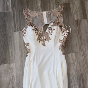 Gorgeous gold and white dress